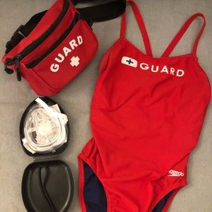Full lifeguard uniform set PRICE NEGOTIABLE